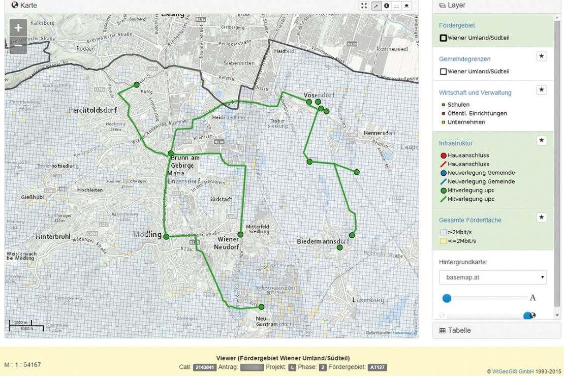 WebGIS unterstützt die Antragstellung der Breitbandförderung