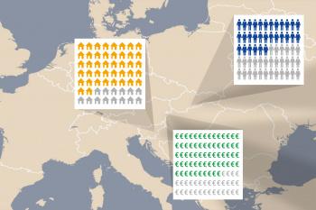 Landkarte Europa demografische Daten