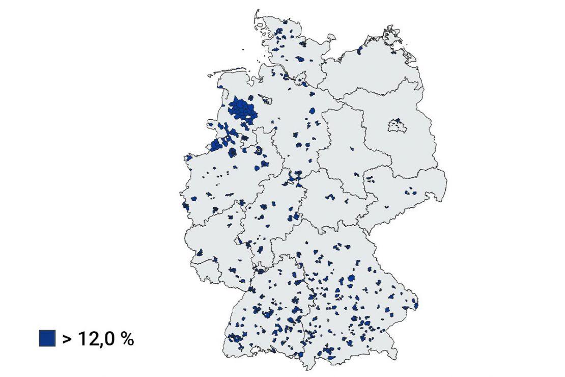 Daten für Unternehmensanalysen: Wohnort junger Erwachsene nach Postleitzahlgebieten