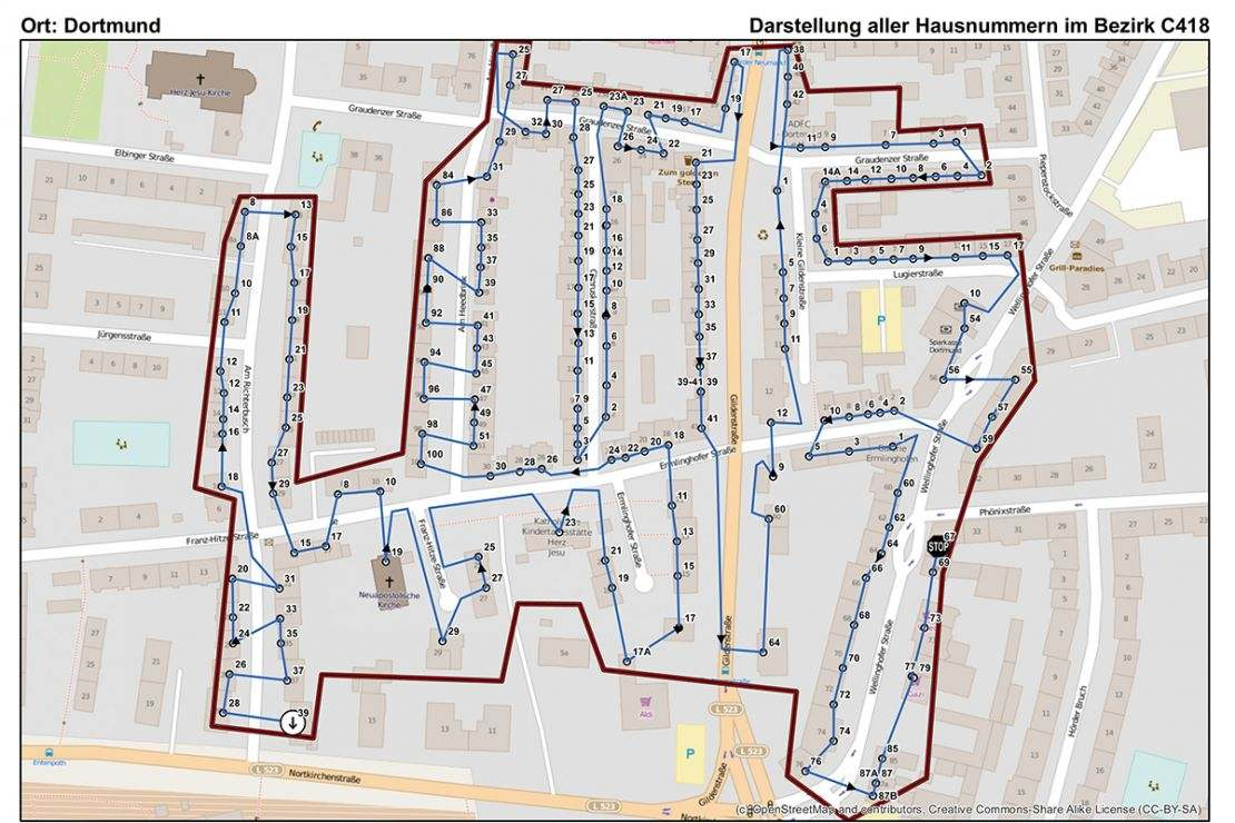 Optimization of the delivery process using GIS at Lensing-Wolff