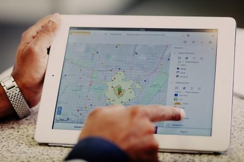 Standortanalysen und Standortbewertungen auf dem Tablet