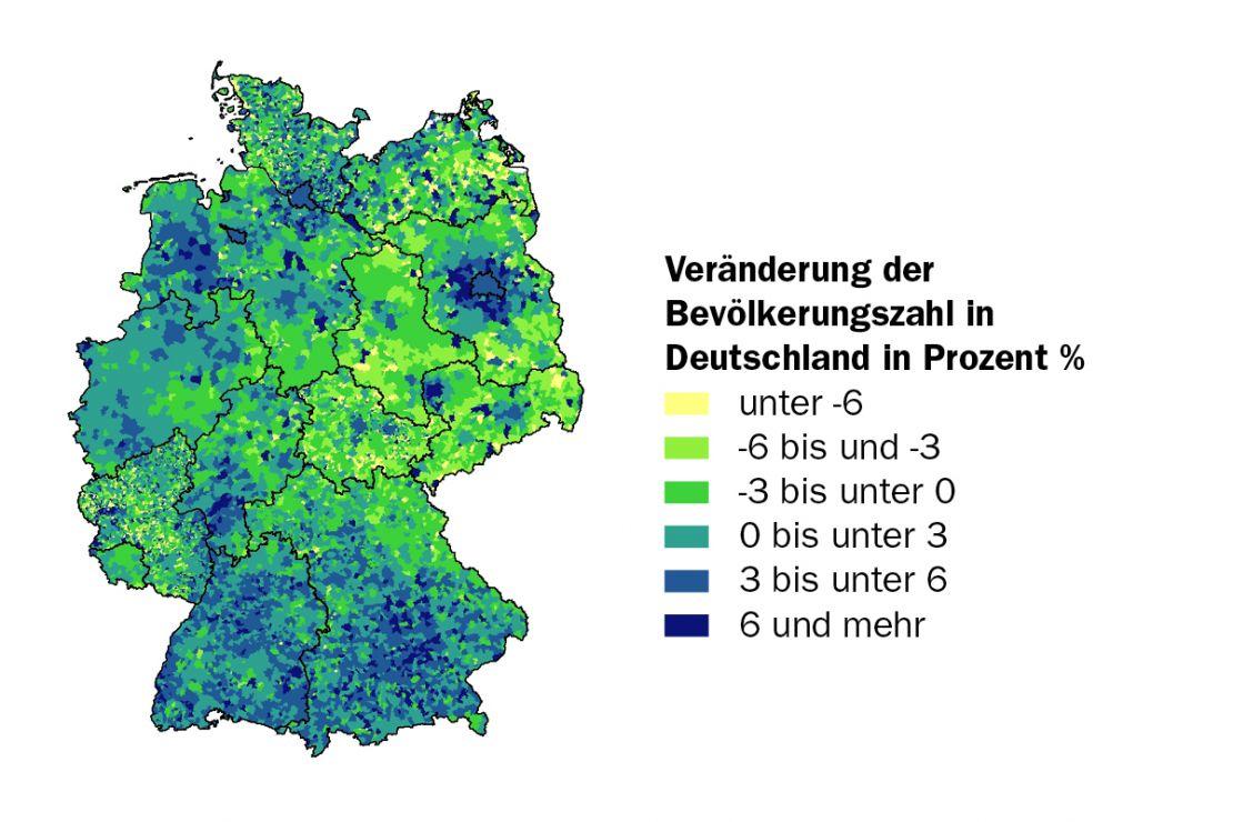 Bevölkerungsveränderung Deutschland 2015-2019