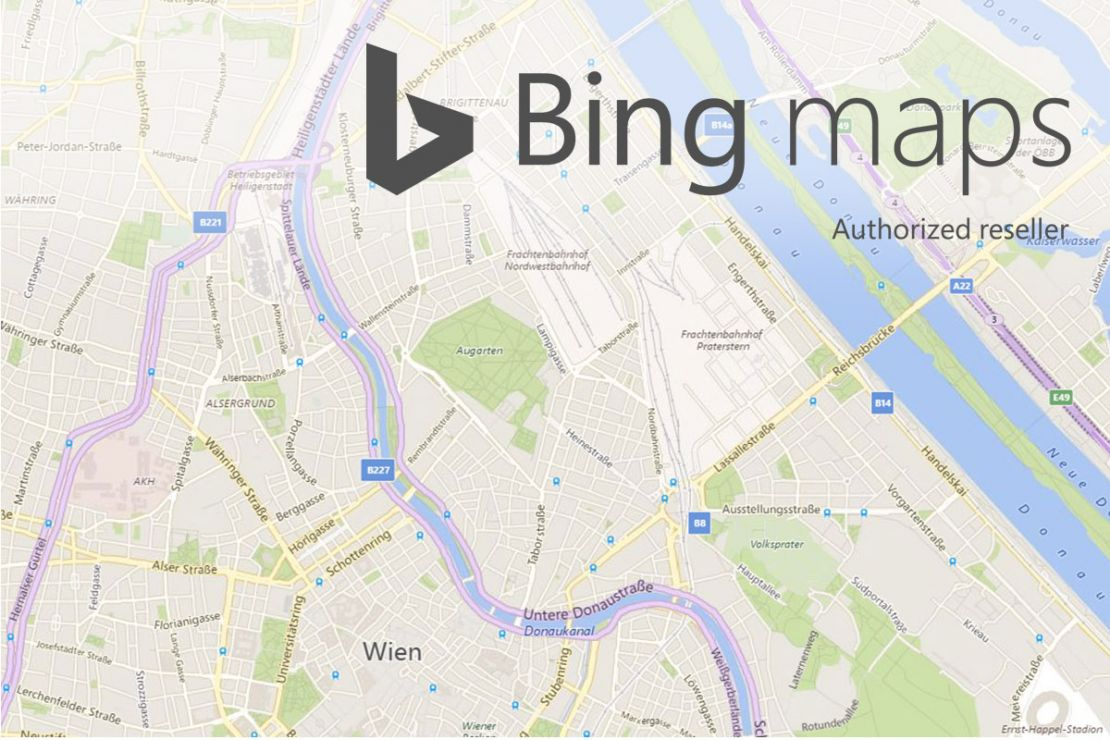 Bing Maps Web Services WIGeoGIS - Microsoft satellite maps