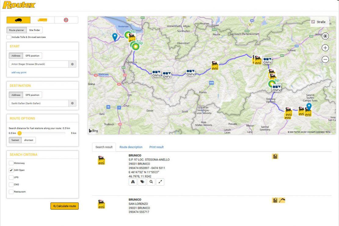 Routex nutzt WebGIS-Software der WIGeoGIS