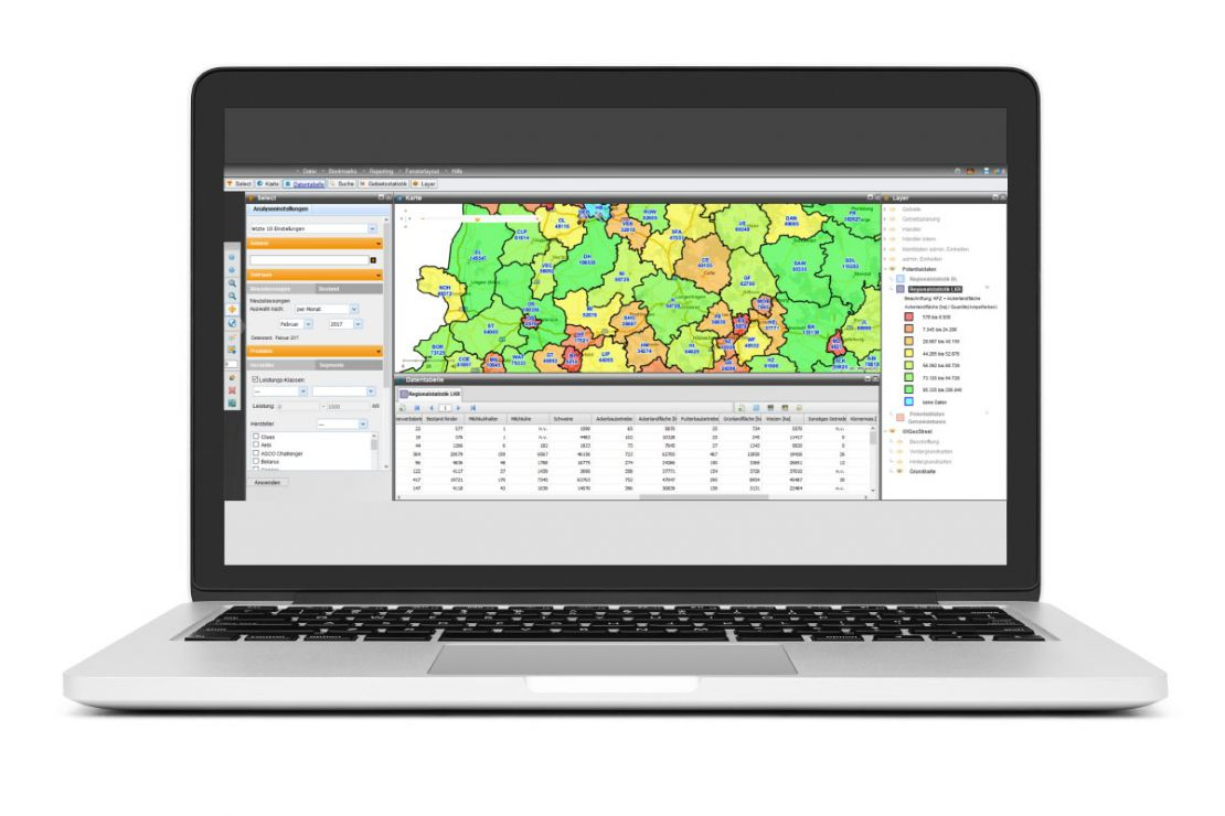 Laptop with VMDA WebGIS Software