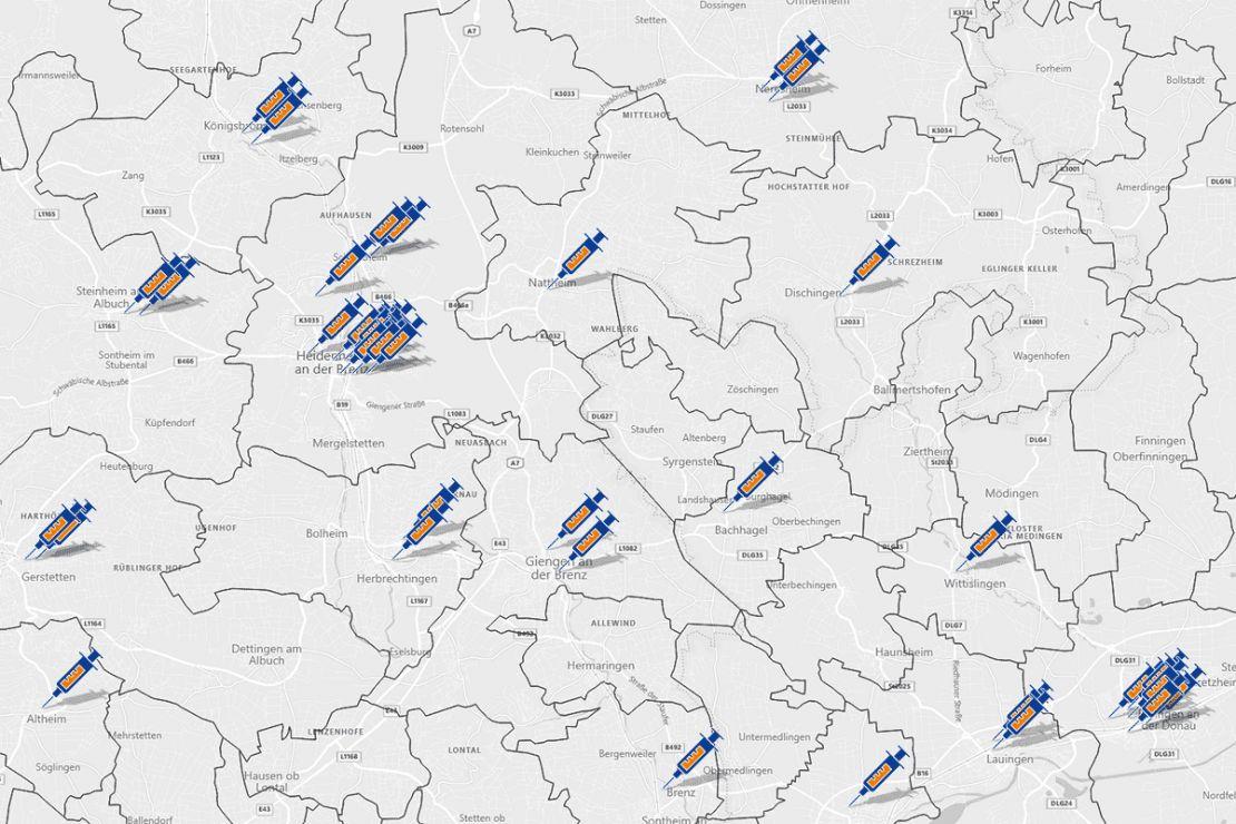WebGIS-Karte mit Alten- & Pflegeheimen für Corona-Impfung