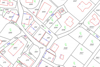 Land register with Orthphoto