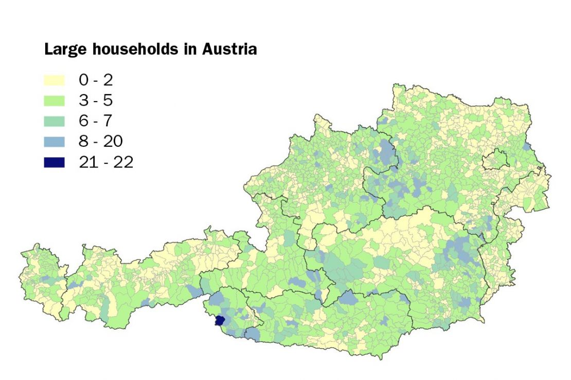 Large households in Austria