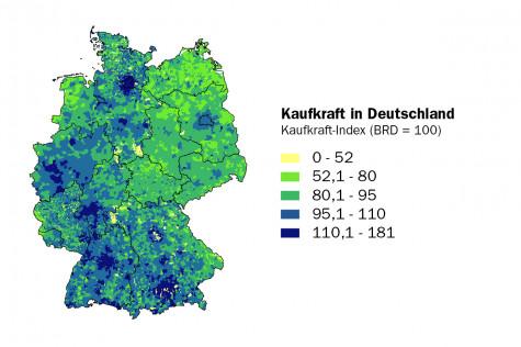 Kaufkraft in Deutschland - aktuelle Zahlen