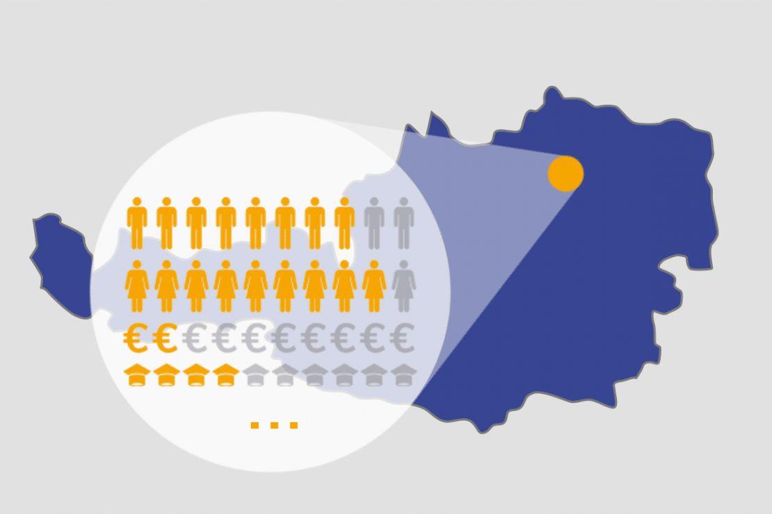 Demografische Daten für Österreich - über 100 unterschiedliche Merkmale für Ihre Anforderungen