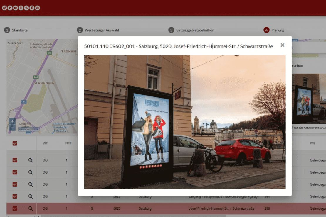 Gewista GIS - photo preview