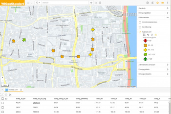 Use footfall data in WebGIS software
