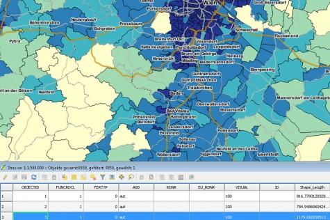 Umfassende GIS- und Geomarketing-Funktionen bietet WIGeo QGIS
