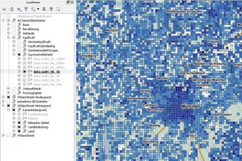 WIGeoGIS bietet QGIS-Erweiterungen für Marktanalysen und Geomarketing