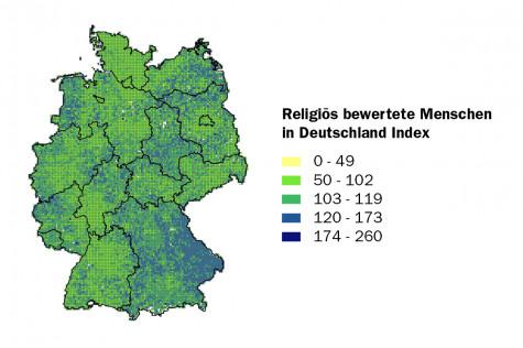 Religiös bewertete Menschen in Deutschland