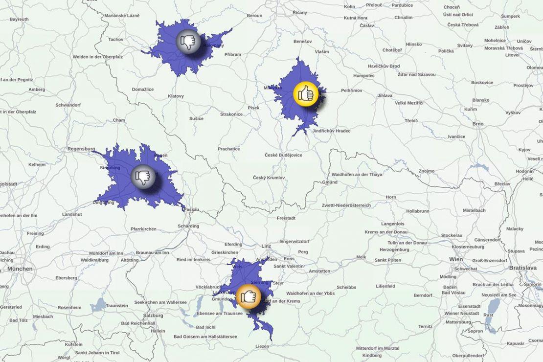 Bei Standortanalysen fliessen die relevanten Informationen aus dem Standortumfeld in die Bewertung mit ein.