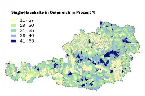 Single-Haushalte in Österreich