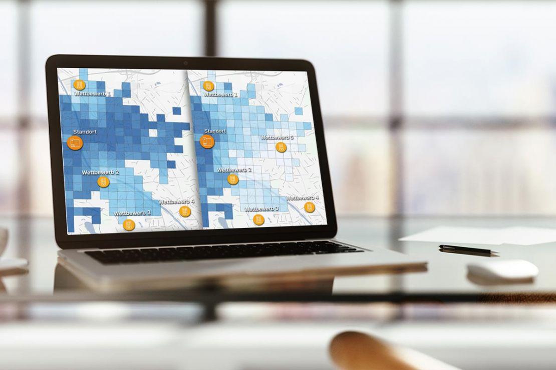 Überzeugen Sie sich, wie leicht unsere Software WIGeoStandort Umsatzprognosen erstellt