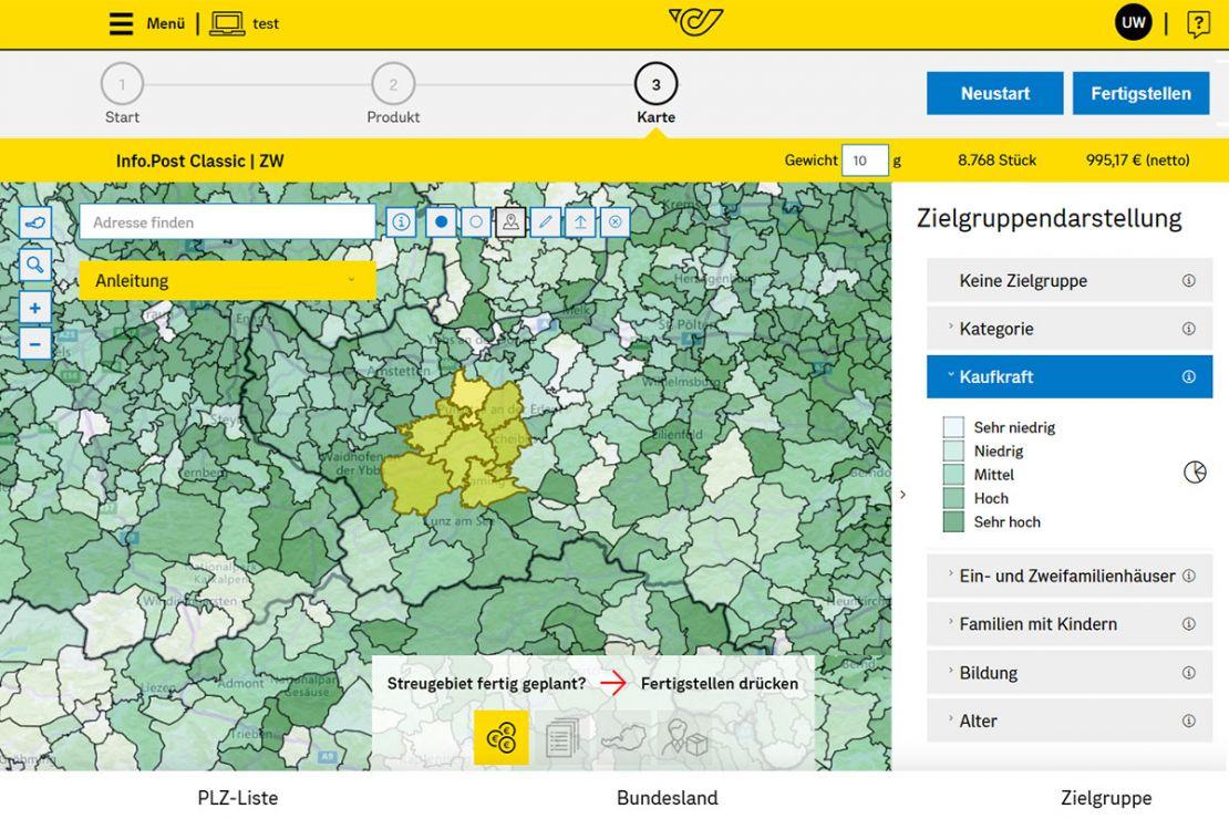 Geomarketing for successful direct marketing at Österreichische Post