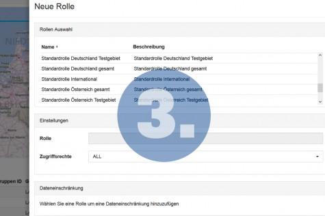 Rollen und Rechte im WebGIS verwalten