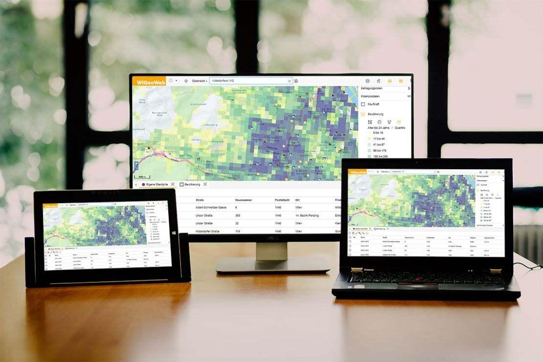 WIGeoWeb, unser WebGIS auch als On Premise Variante bei Ihrem Unternehmen